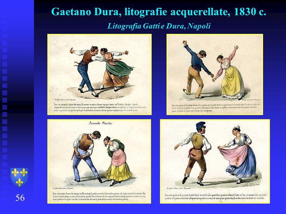 56 Gaetano Dura, litografie acquerellate, 1830 c. Litografia Gatti e Dura, Napoli