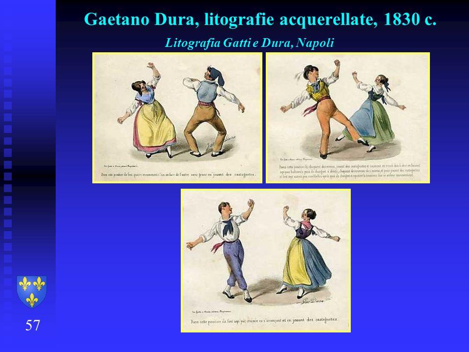 57 Gaetano Dura, litografie acquerellate, 1830 c. Litografia Gatti e Dura, Napoli