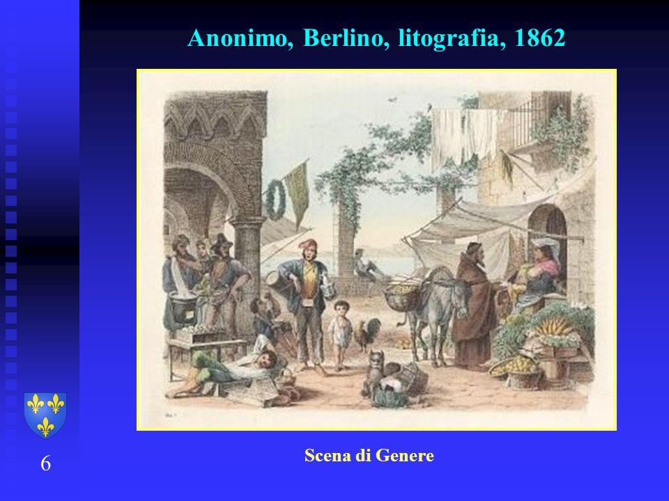 Anonimo, Berlino, litografia, 1862 6 Scena di Genere