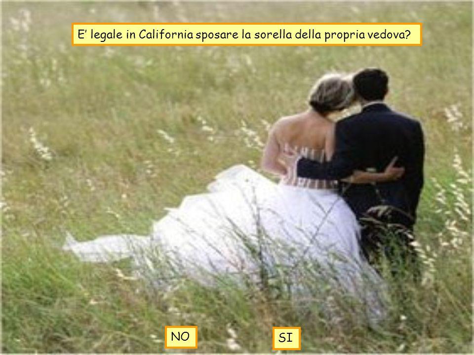 E legale in California sposare la sorella della propria vedova? NO SI