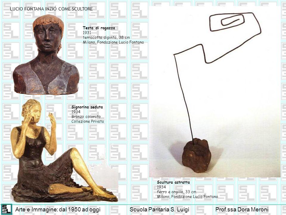 Arte e Immagine: dal 1950 ad oggiScuola Paritaria S. LuigiProf.ssa Dora Meroni LUCIO FONTANA INZIÓ COME SCULTORE Scultura astratta 1934 ferro e argill