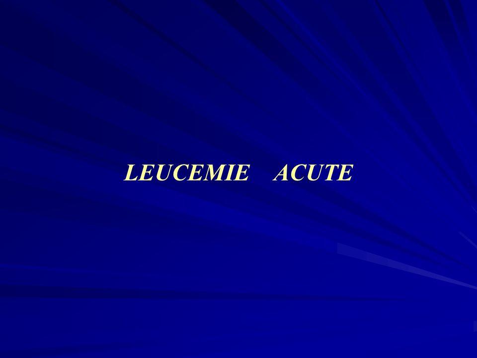 Le leucemie acute rappresentano un gruppo eterogeneo di neoplasie che traggono origine dalla trasformazione neoplastica di cellule ematopoietiche La trasformazione neoplastica può interessare la cellula staminale pluripotente o le cellule immature già commissionate, in senso linfoide (leucemia linfatica acuta - LAL - ) in senso mieloide (leucemia mieloide acuta - LAM -), in senso linfoide e mieloide ( leucemie polifenotipiche ).