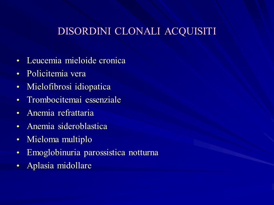 Alterazione della crasi ematica nelle leucemie acute allesame clinico Piastrine ( x 109/L) < 25 25-3510-15 25-10050-7050-70 > 100 5-1510-30 Blasti nella formula leucocitaria % Assenti1-51-3 1-3030-4035-50 > 30 45-5540-50