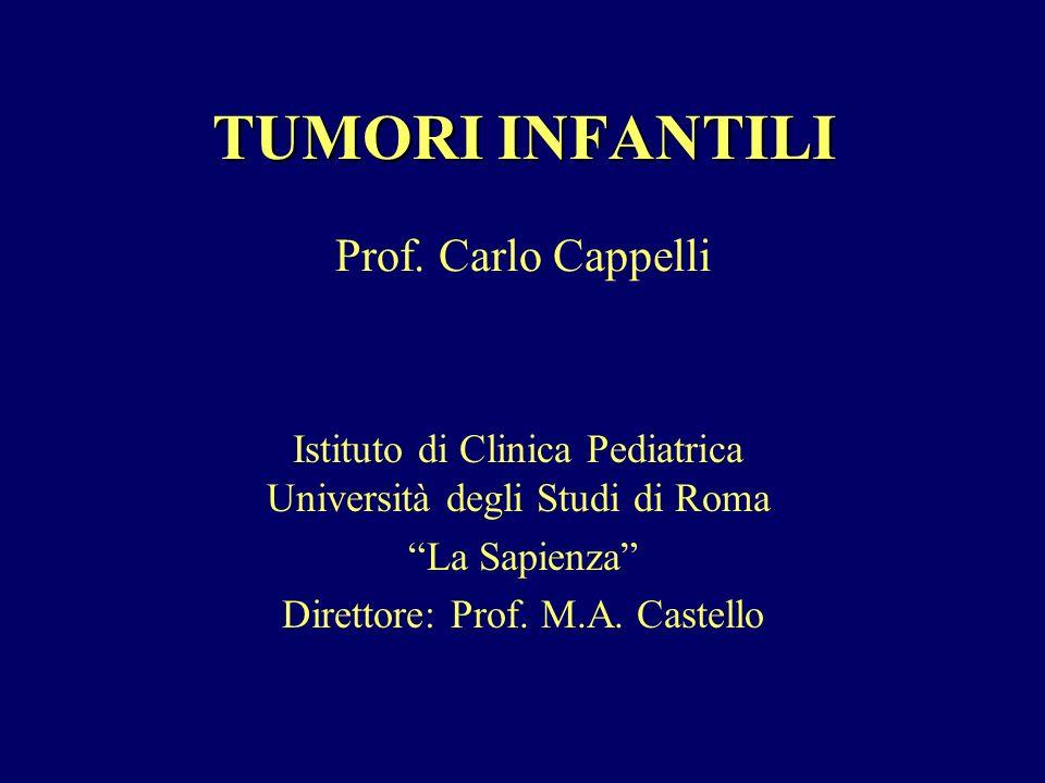TUMORI INFANTILI Istituto di Clinica Pediatrica Università degli Studi di Roma La Sapienza Direttore: Prof. M.A. Castello Prof. Carlo Cappelli