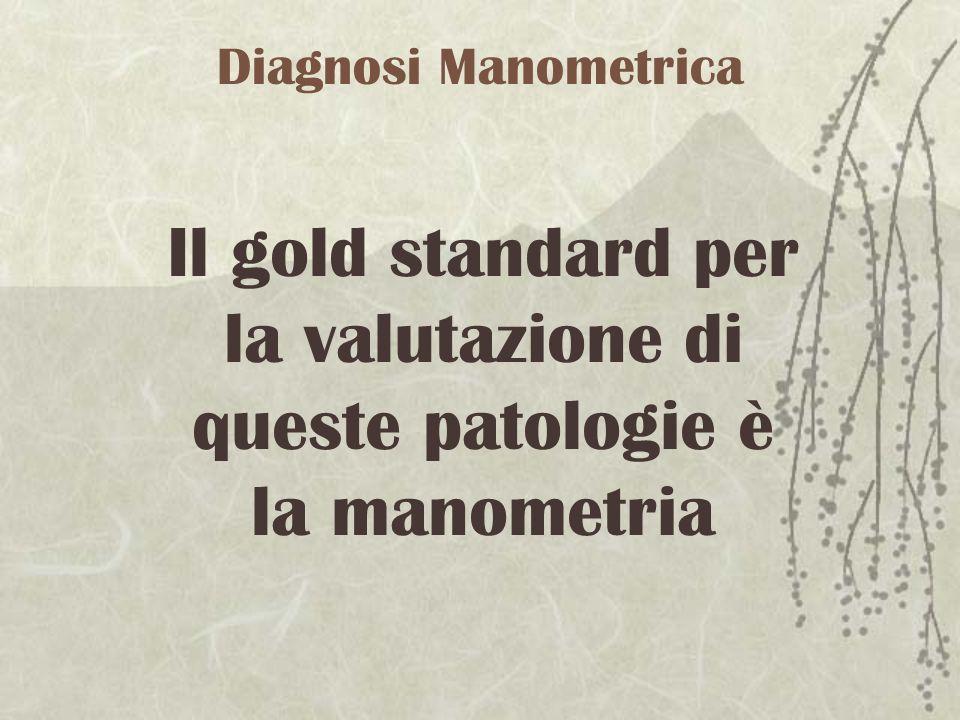 Il gold standard per la valutazione di queste patologie è la manometria Diagnosi Manometrica