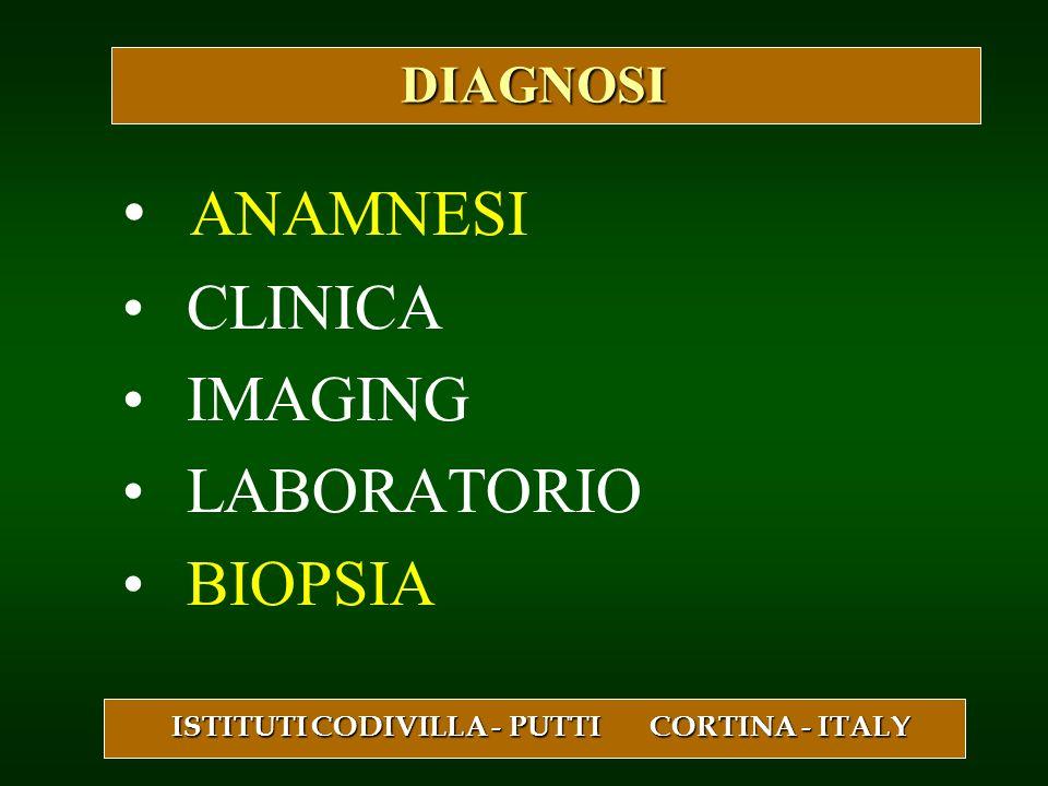 ANAMNESI CLINICA IMAGING LABORATORIO BIOPSIA ISTITUTI CODIVILLA - PUTTI CORTINA - ITALY DIAGNOSI DIAGNOSI