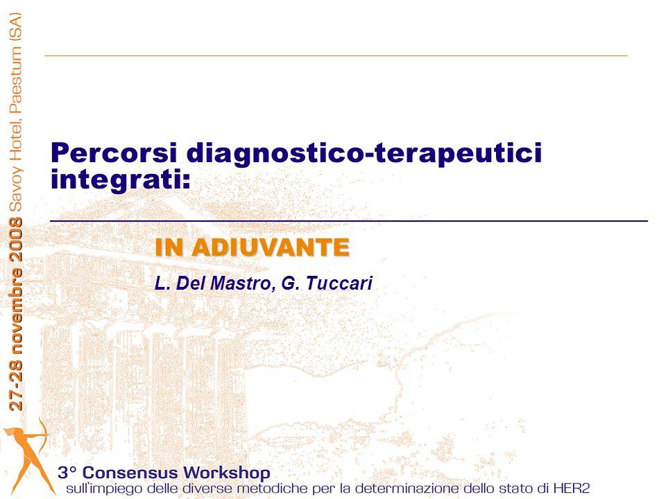 Percorsi diagnostico-terapeutici integrati: IN ADIUVANTE L. Del Mastro, G. Tuccari