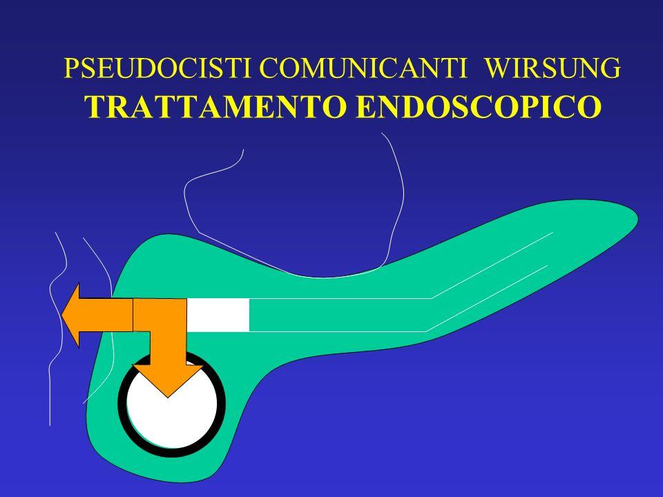 PSEUDOCISTI CON BULGING G/D TRATTAMENTO ENDOSCOPICO DISTANZA PSEUDOCISTI-PARETE GASTRICA O DUODENALE < 1 CM