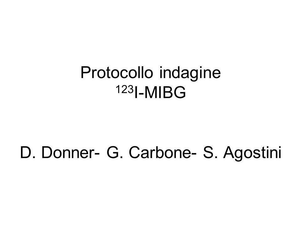MIBG La metaiodobenzilguanidina (MIBG), analogo della guanetidina, si localizza, mediante il mecanismo di ricaptazione della norepinefrina, nelle vescicole di deposito delle catecolamine delle terminazioni adrenergiche dei nervi e negli organi dotati di ricca innervazione adrenergica (cuore, midollare del surrene, gh.