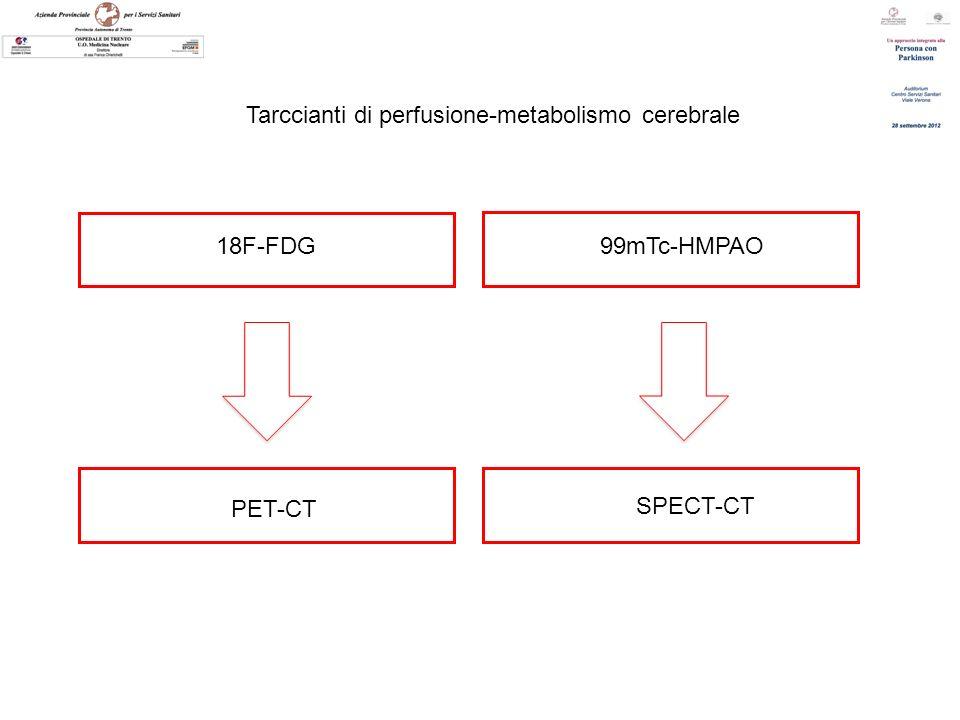 Tarccianti di perfusione-metabolismo cerebrale 18F-FDG99mTc-HMPAO PET-CT SPECT-CT