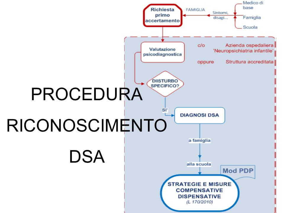 PROCEDURA RICONOSCIMENTO DSA