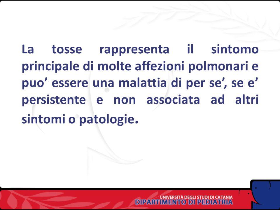 La tosse: inquadramento diagnostico Mario La Rosa,Direttore Dipartimento di Pediatria, Direttore Scuola di Specializzazione
