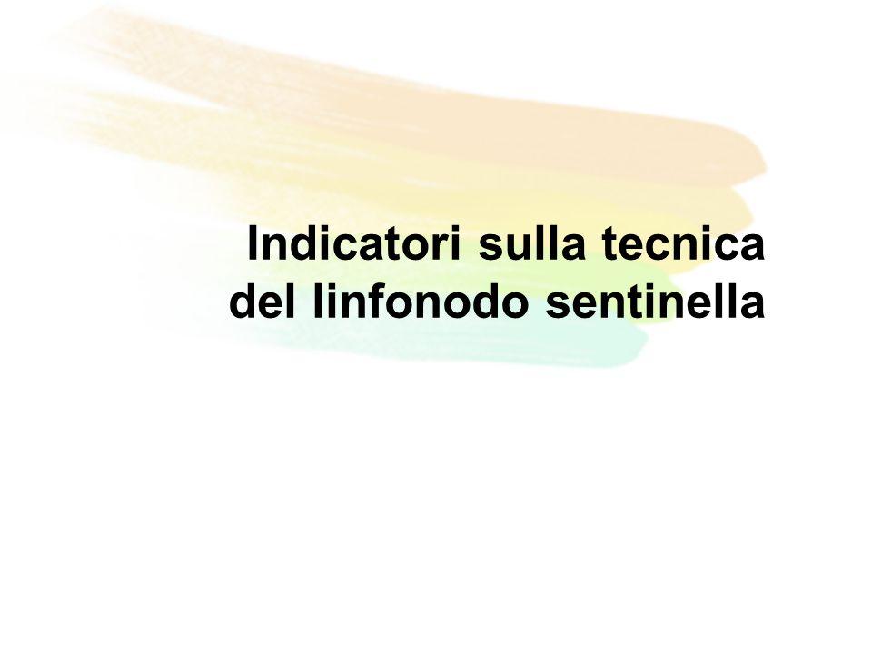 Indicatori sulla tecnica del linfonodo sentinella