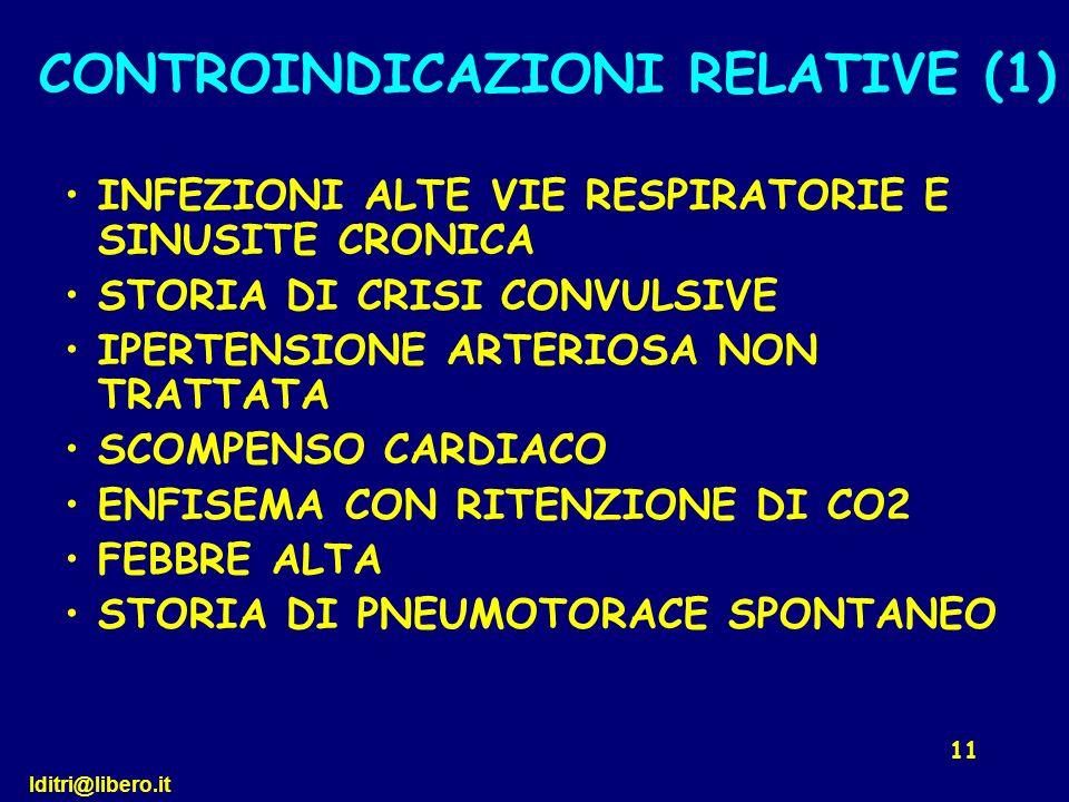 lditri@libero.it 11 INFEZIONI ALTE VIE RESPIRATORIE E SINUSITE CRONICA STORIA DI CRISI CONVULSIVE IPERTENSIONE ARTERIOSA NON TRATTATA SCOMPENSO CARDIA