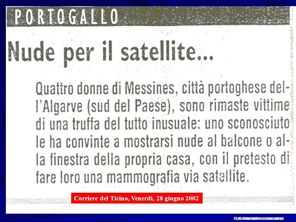 Corriere del Ticino, Venerdì, 28 giugno 2002 23.05.05durabilitasistemisanitari