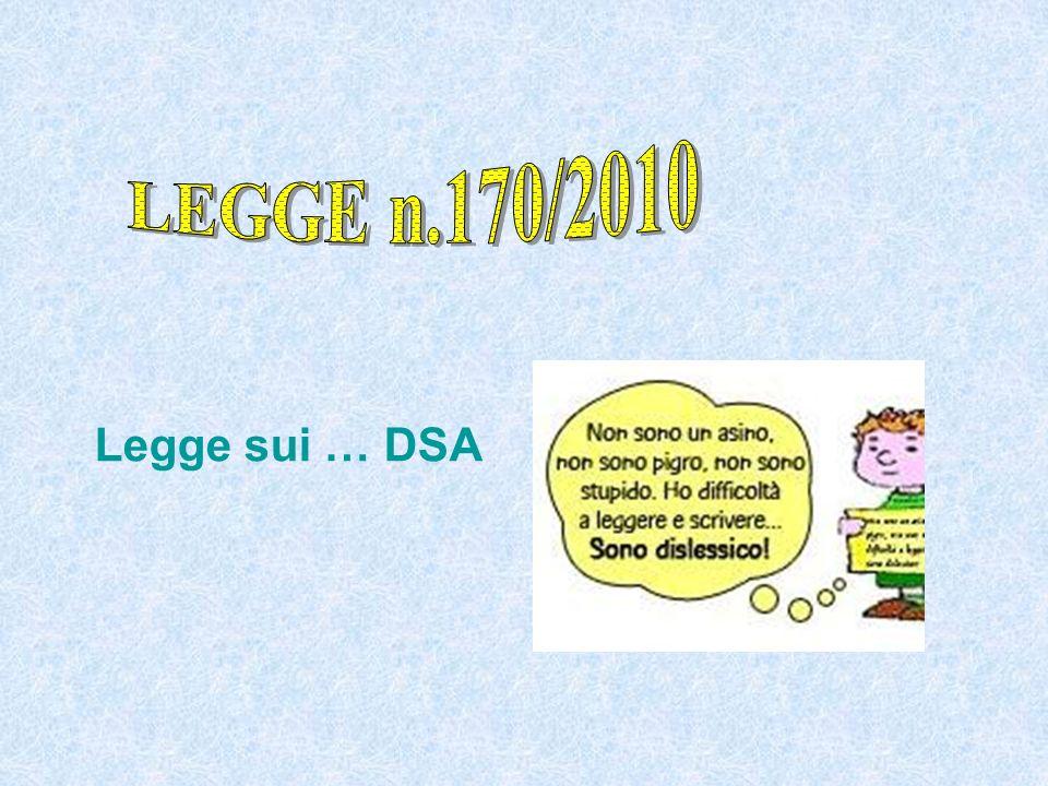Legge sui … DSA