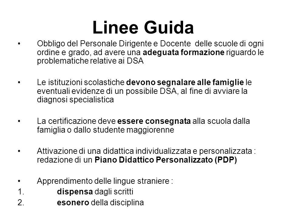 Linee Guida Obbligo del Personale Dirigente e Docente delle scuole di ogni ordine e grado, ad avere una adeguata formazione riguardo le problematiche