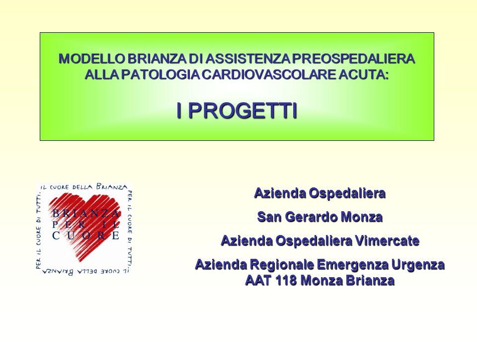 Azienda Ospedaliera San Gerardo Monza Azienda Ospedaliera Vimercate Azienda Regionale Emergenza Urgenza AAT 118 Monza Brianza MODELLO BRIANZA DI ASSIS