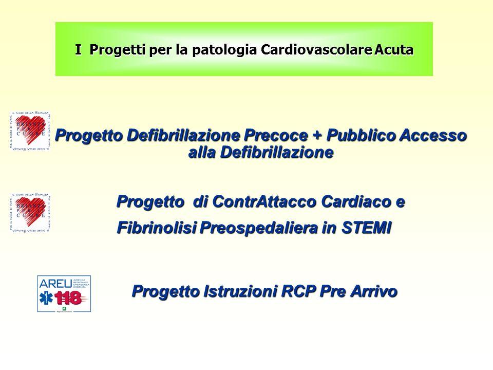 Progetto Defibrillazione Precoce + Pubblico Accesso alla Defibrillazione Progetto Defibrillazione Precoce + Pubblico Accesso alla Defibrillazione Prog