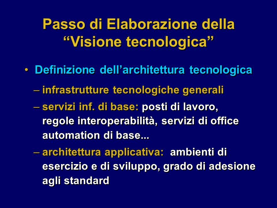 –infrastrutture tecnologiche generali –servizi inf.