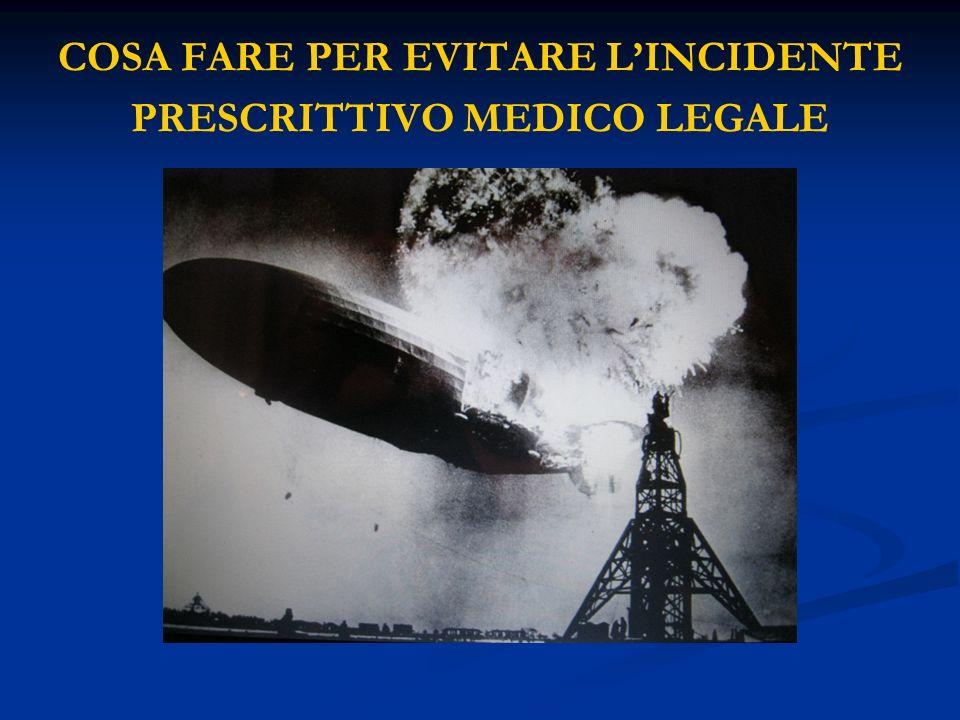 COSA FARE PER EVITARE LINCIDENTE PRESCRITTIVO MEDICO LEGALE