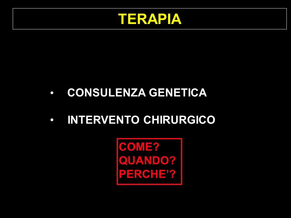 TERAPIA CONSULENZA GENETICA INTERVENTO CHIRURGICO COME? QUANDO? PERCHE?