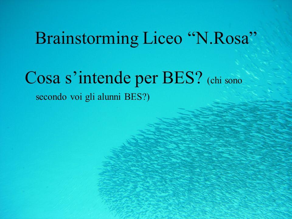 Brainstorming Liceo N.Rosa Cosa sintende per BES? (chi sono secondo voi gli alunni BES?)