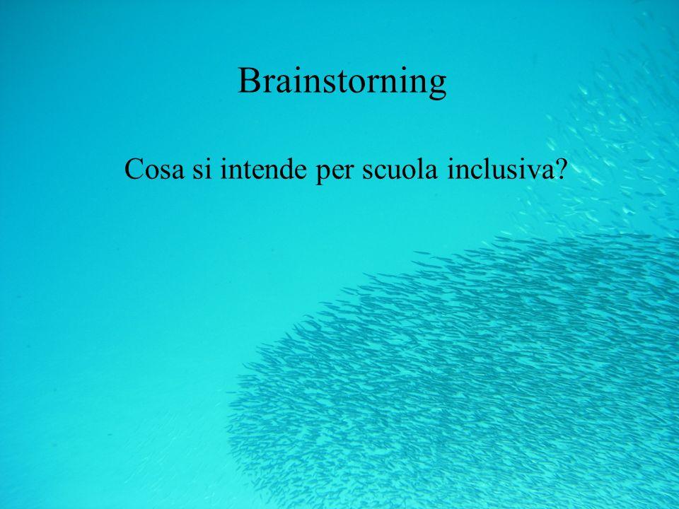 Brainstorning Cosa si intende per scuola inclusiva?