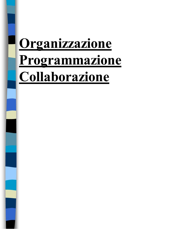 Organizzazione Programmazione Collaborazione