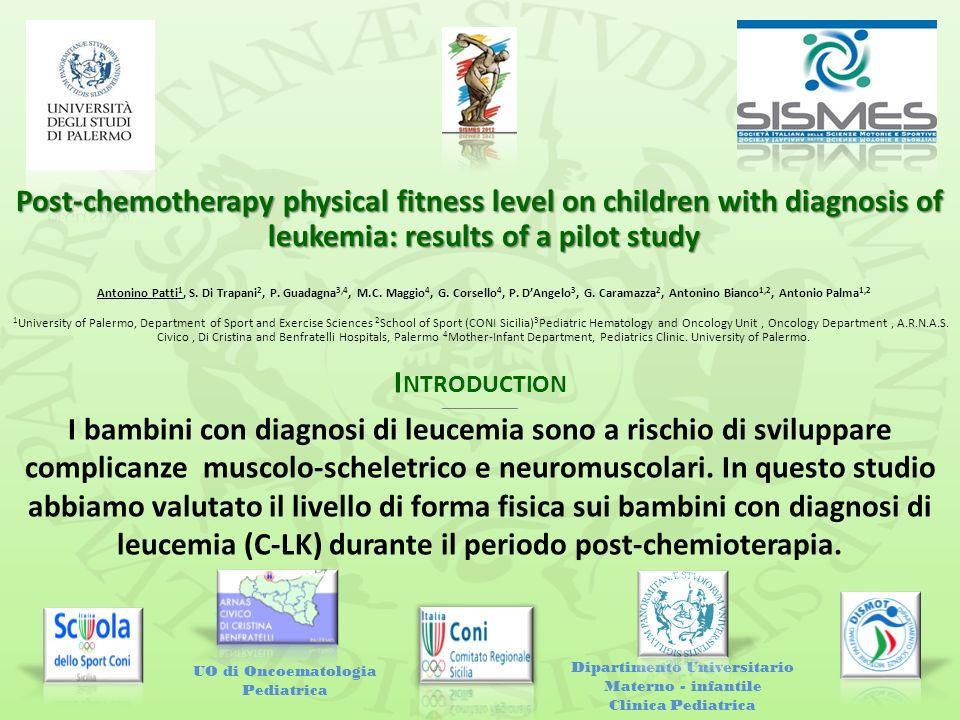 I NTRODUCTION ___________________ I bambini con diagnosi di leucemia sono a rischio di sviluppare complicanze muscolo-scheletrico e neuromuscolari. In