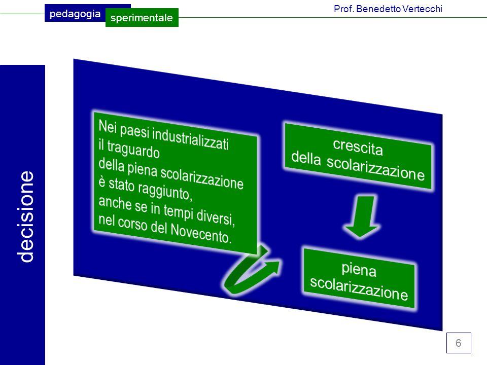 6 pedagogia sperimentale Prof. Benedetto Vertecchi decisione