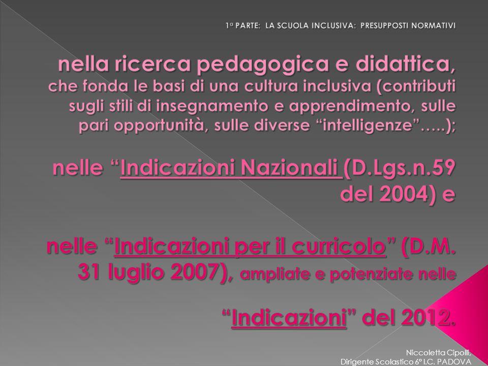 Niccoletta Cipolli, Dirigente Scolastico 6° I.C.