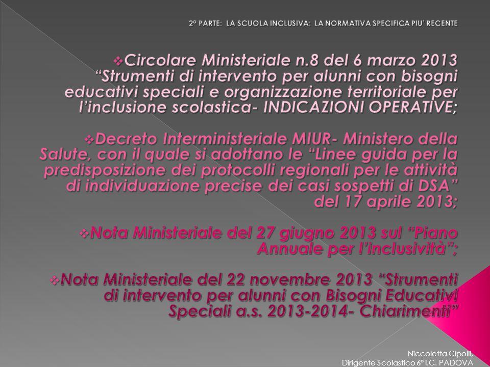 Niccoletta Cipolli, Dirigente Scolastico 6° I.C. PADOVA