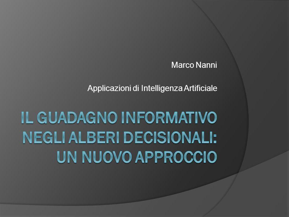Marco Nanni Applicazioni di Intelligenza Artificiale