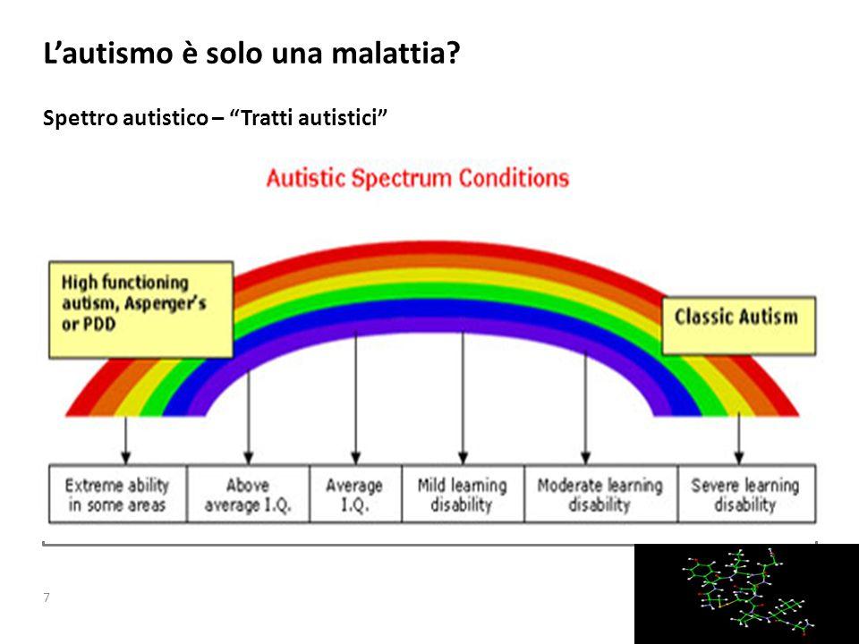 Lautismo è solo una malattia Spettro autistico – Tratti autistici Slide Header – Variant 1 7