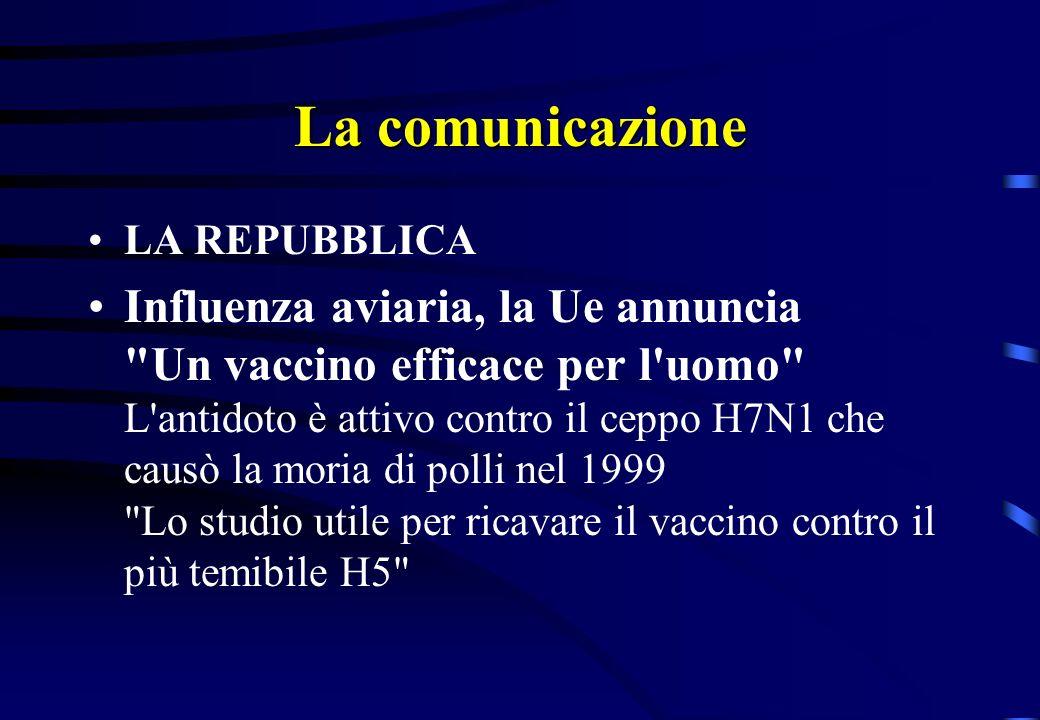 La comunicazione LA REPUBBLICA Influenza aviaria, la Ue annuncia