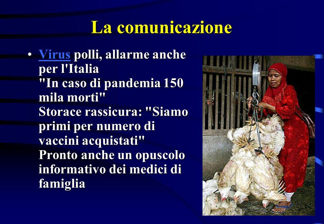 La comunicazione Virus polli, allarme anche per l'Italia