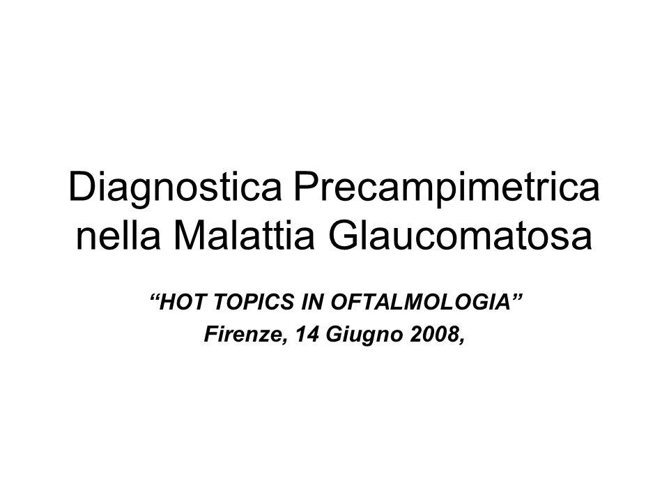 Diagnostica Precampimetrica nella Malattia Glaucomatosa HOT TOPICS IN OFTALMOLOGIA Firenze, 14 Giugno 2008,