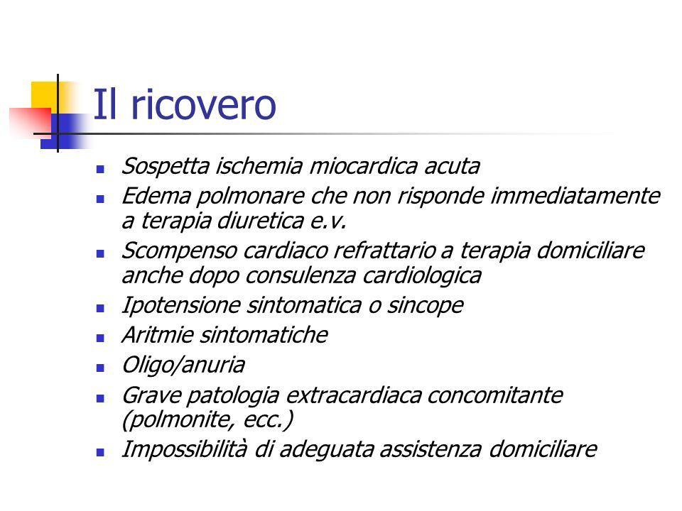 La consulenza a) Diagnosi o sospetto diagnostico di patologia di interesse cardiologico - coronaropatia - aritmie significative - significativa patolo