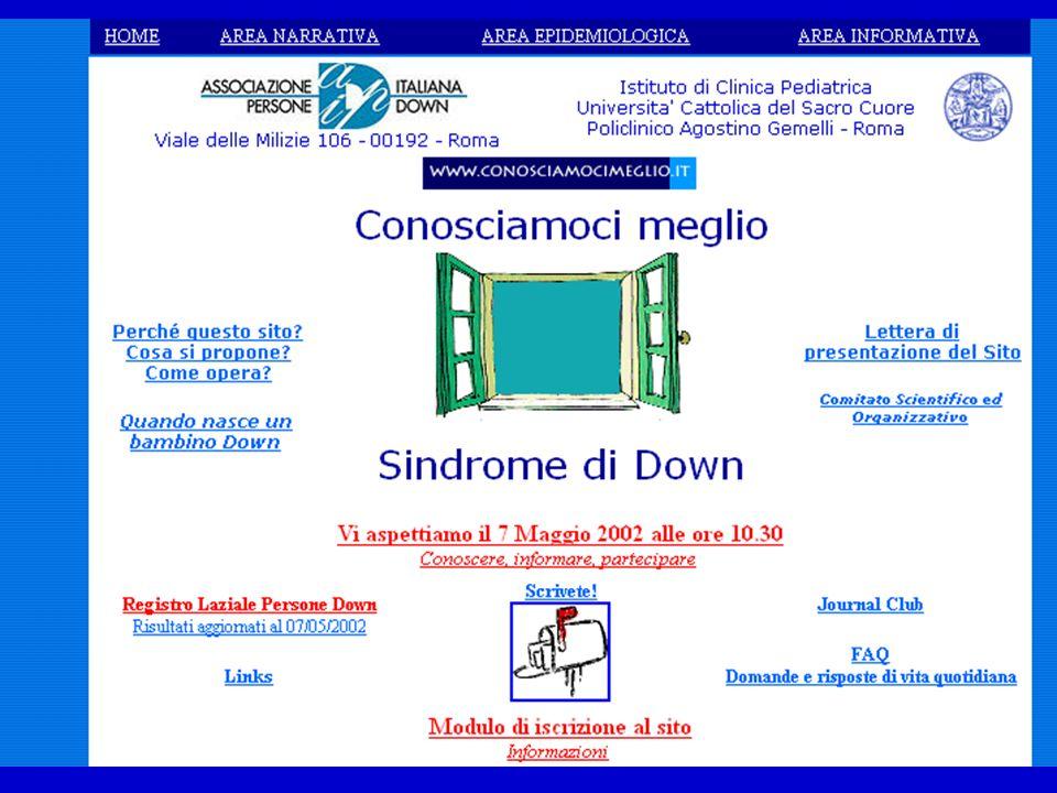 Una possibile soluzione per migliorare le nostre conoscenze sullo stato di salute e sulla qualità di vita www.conosciamocimeglio.it