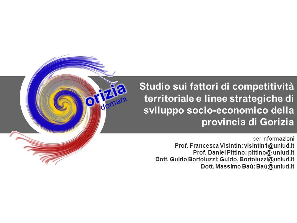 11 SWG srl per la Camera di Commercio di Gorizia doman l Studio sui fattori di competitività territoriale e linee strategiche di sviluppo socio-econom