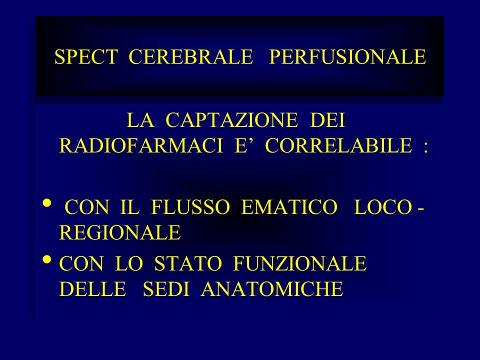 Spect cerebrale vasculiti Pazienti 164 Controlli 22 Invariati 5 Migliorati 4 Peggiorati 13