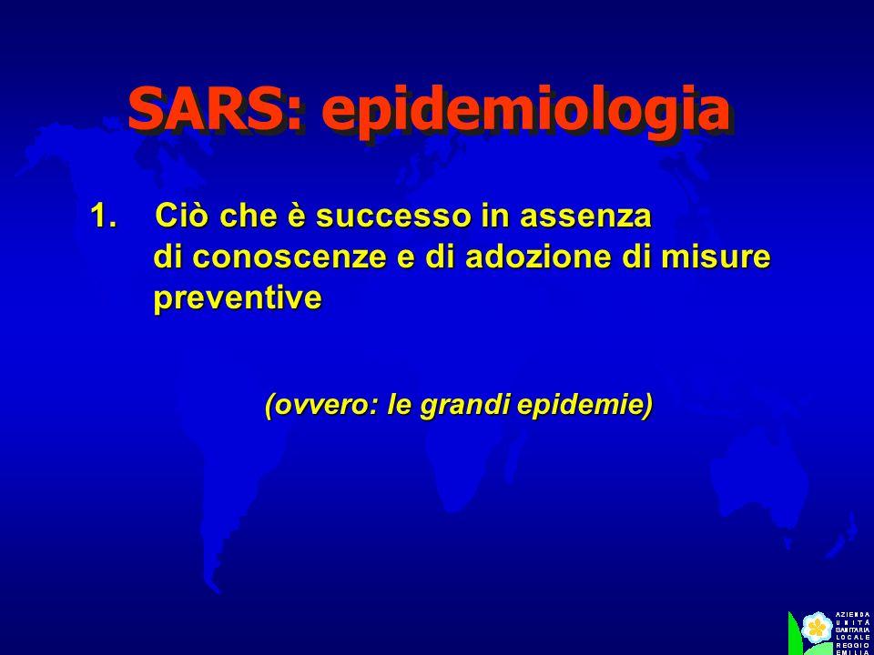 1. Ciò che è successo in assenza di conoscenze e di adozione di misure preventive (ovvero: le grandi epidemie)