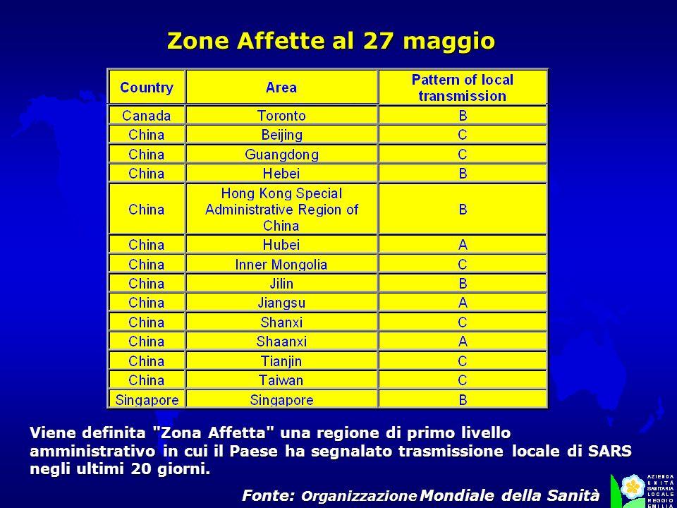 Zone Affette al 27 maggio Zone Affette al 27 maggio Viene definita