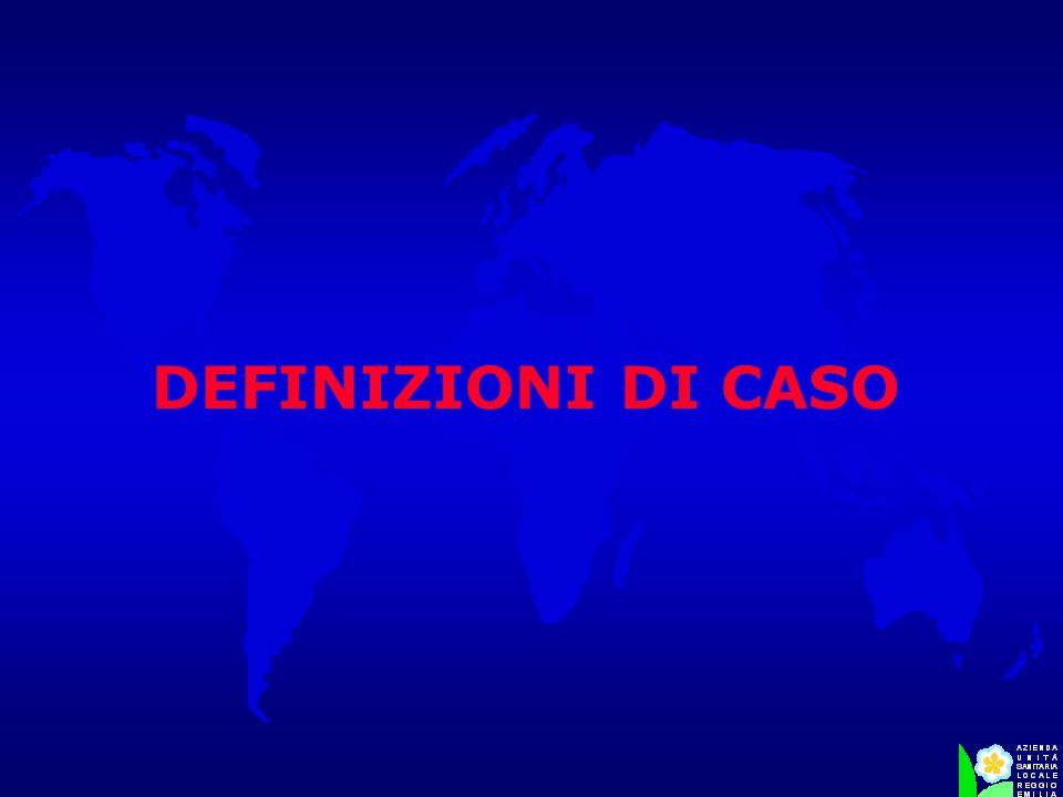 DEFINIZIONI DI CASO