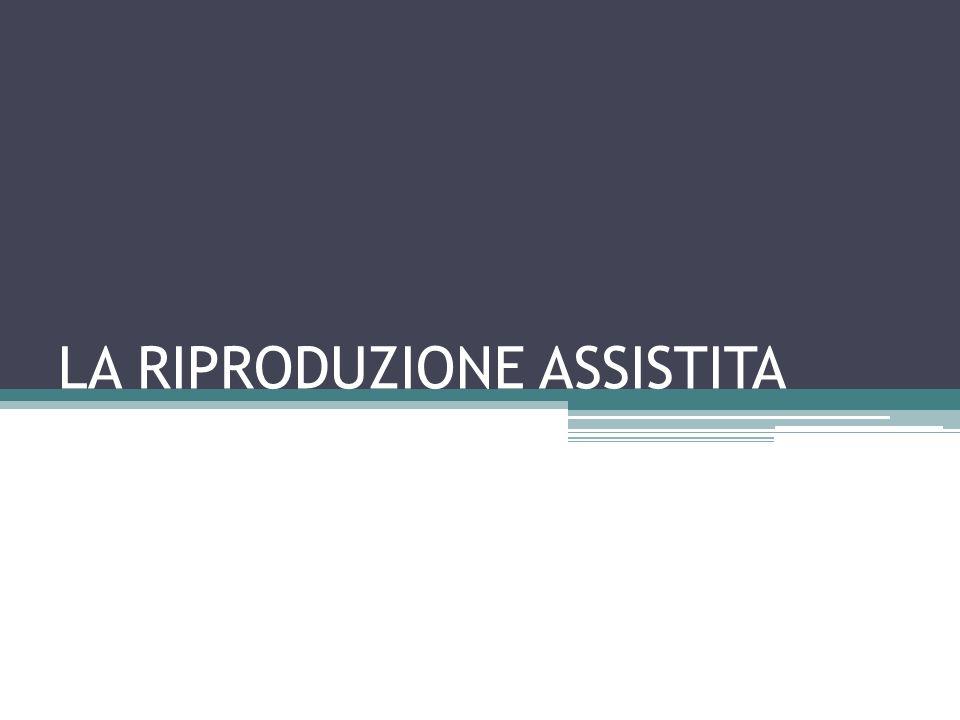 IN ITALIA La procreazione medicalmente assistita è normata dalla legge n.