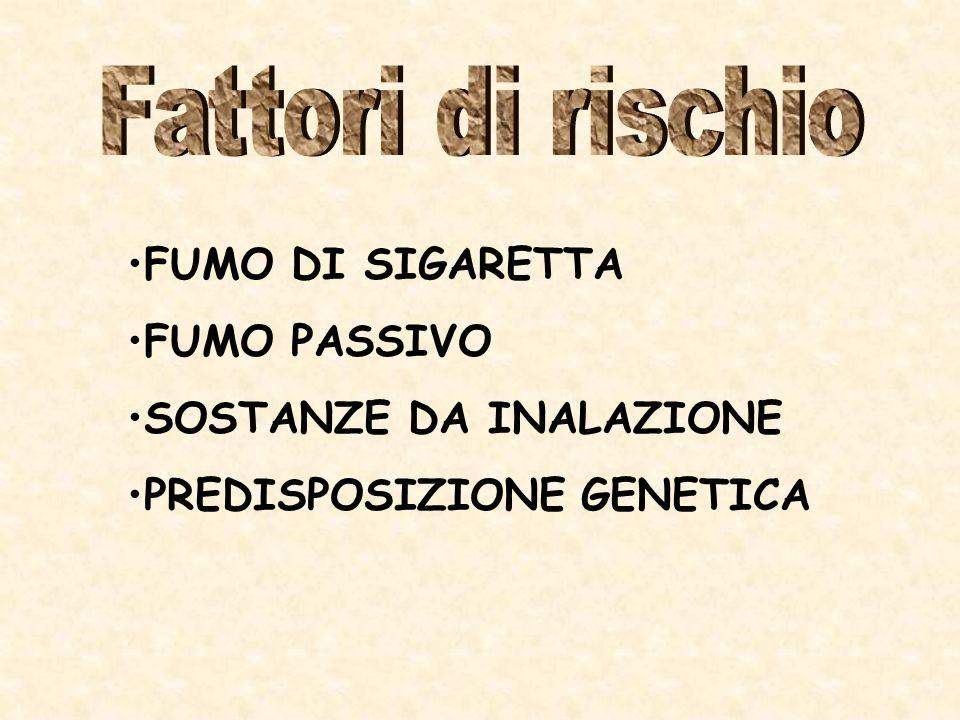 FUMO DI SIGARETTA FUMO PASSIVO SOSTANZE DA INALAZIONE PREDISPOSIZIONE GENETICA