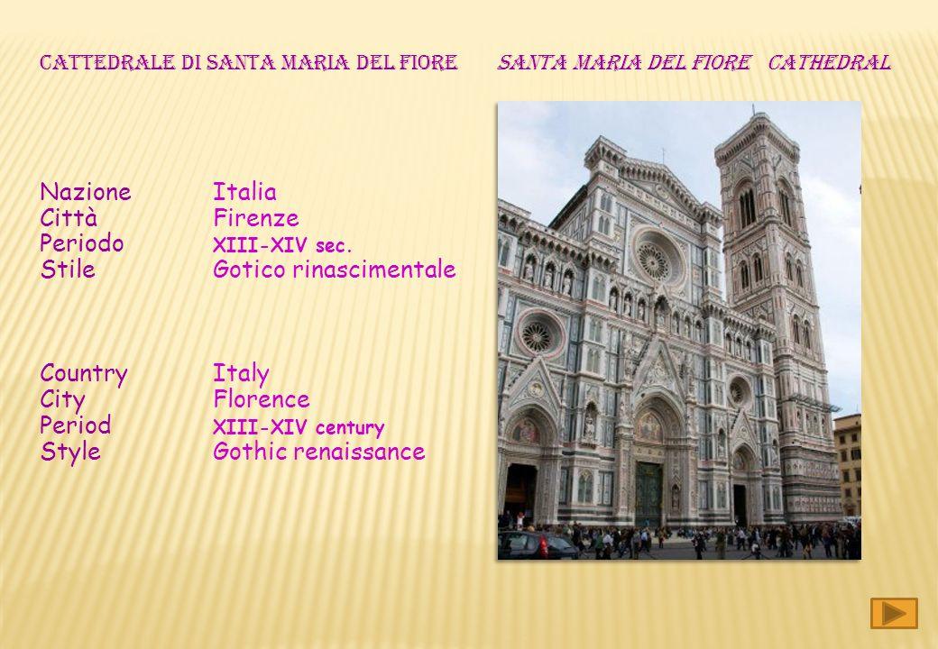 Nazione Italia Città Firenze Periodo XIII-XIV sec.