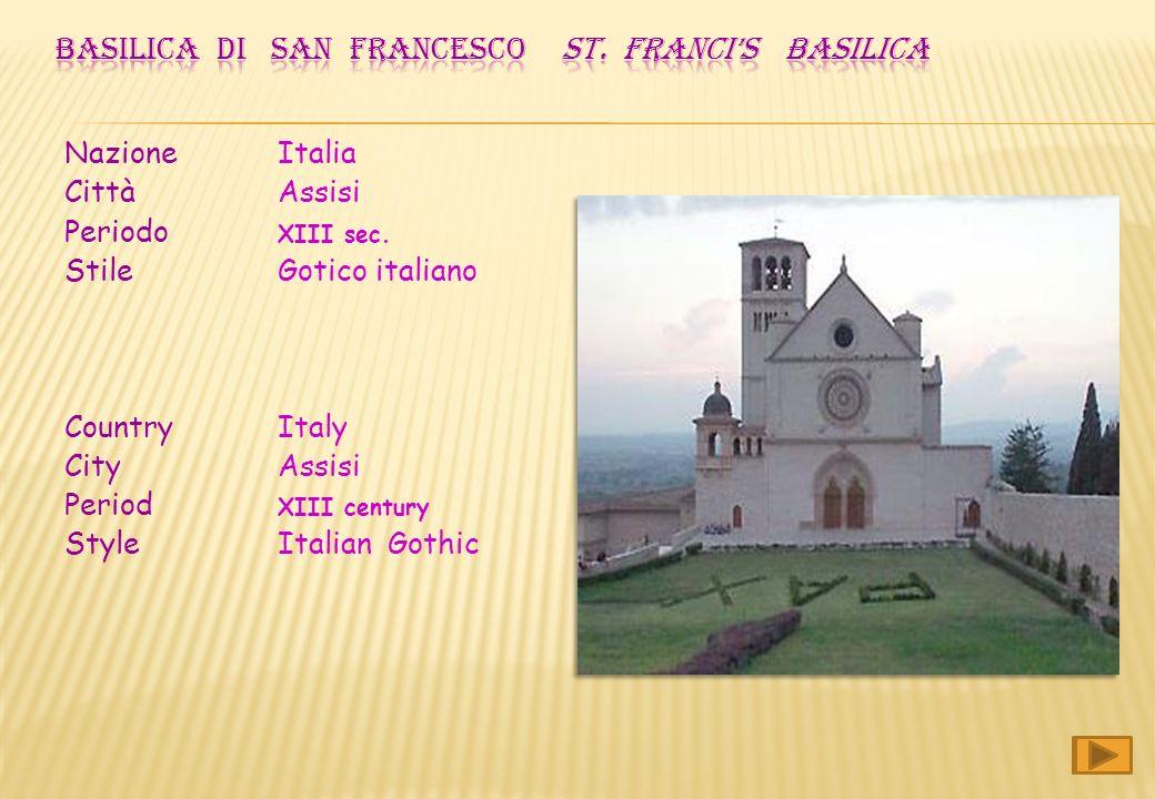 Nazione Italia Città Assisi Periodo XIII sec.