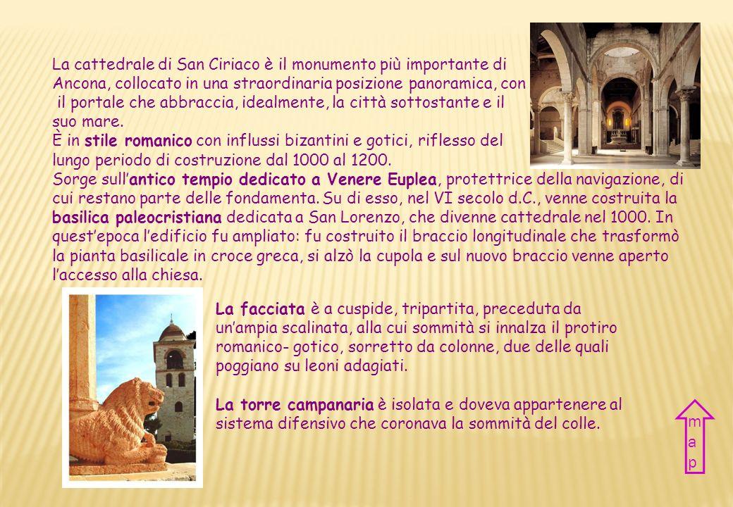 Nazione Italia Città Ancona Periodo XI – XIII sec Stile Romanico Country Italy City Ancona Period XI – XIII century Style Romanic CATTEDRALE DI san ci